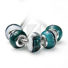 5pcs Lampwork Murano Glass Loose Beads Charm Bracelets Necklace 14*10/14*8.5mm