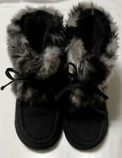 Dr. Scholl's Black Winter Warm Ankle Boots Faux Fur Women's Sz 7M