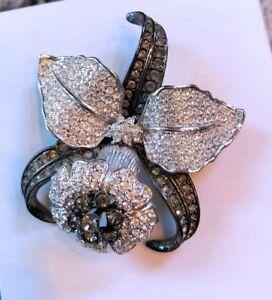Nolan Miller Pave Orchid Pin   NIB