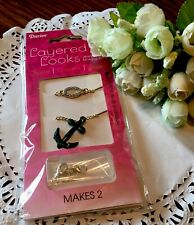 Darice Delicately Yours Layering Necklaces 2 Pc Set Anchor Rhinestones New!