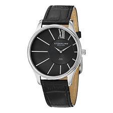 Stuhrling Original Men's 553.33151 Classic Cuvette SD Quartz Black Leather Watch