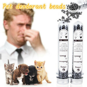 Cat Litter Deodorant Beads Activated Charcoal Absorbs Tight Odor Cat Stink Bead