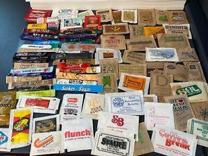 Sucrology Sugar Sachets & Cubes Collectors Vintage Items 80 plus items LOT 5