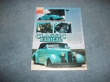 """1939 LaSalle Convertible Street Rod Article """"Classic Radical"""" Cadillac"""