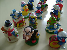 LOT OF 12 CANDY TOPPER BIP HOLAND SMURFS