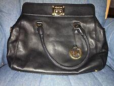 Michael Kors Fulton Black Leather Large Bag Handbag