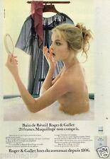 Publicité advertising 1981 Cosmétique produit pour le Bain Roger & Gallet