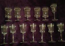 "Set of 13 Jonathan Adler ""Happy Chic""  wine & water glasses"