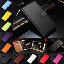 For HTC M7/ 8/ 9/ 10 U11 Life Real Leather Flip Wallet Case Cover with Card Slot