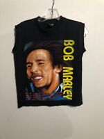 Vintage Bob Marley Hot Ice Sleeveless Black Graphic T-Shirt S Get Up Stand Up