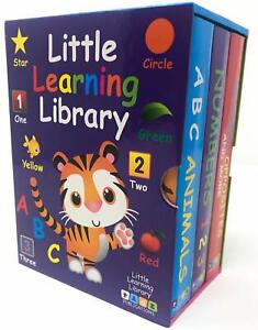 Little Learning Library Alphabet Numbers Animals Shape Opposite Colors Boxed Set
