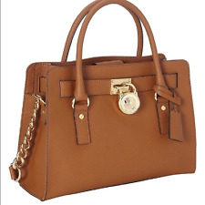 NWT MICHAEL KORS BROWN LUGGAGE  LEATHER SATCHEL BAG $298