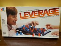 1983 Vintage MB MILTON BRADLEY LEVERAGE STRATEGY BOARD GAME 100% complete in box