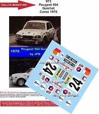 DÉCALS promo 1/43 réf 973 Peugeot 504 Guichet Corse 1970