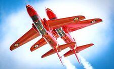 RAF Red Arrows Synchro Pair Flying Royal Air Force 12x7 Inch Reprint Photo