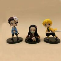 3pcs / Set Anime Demon Slayer: Kimetsu no Yaiba Vol.1 Mini PVC Figure Toy No Box