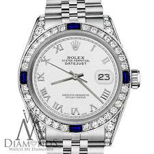 Rolex 26mm Datejust White Color Roman Numeral Dial Sapphire & Diamond