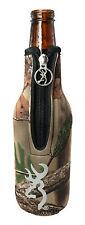 Browning Camo Buckmark Bottle Zipper Koozie Cooler