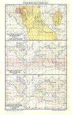 Alte Landkarte 1910: Erdmagnetismus I. Deklination Inklination magnetisch (Mkl7)