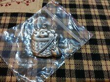 """Longaberger Pewter Metal Apple Basket Magnet Silver Toned Fall Harvest 1 3/4"""""""