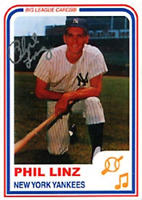 Phil Linz Autographed / Signed 2003 New York Yankees Baseball Card