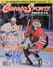 Blackhawks Ed Belfour Authentic Signed Chicago Sports Magazine Psa/Dna #Q12185