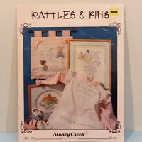 Rattles & Pins Vintage Counted Cross Stitch 15 Patterns