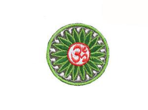 Ecusson brode patch mandala om aum hindou bouddhisme 8567