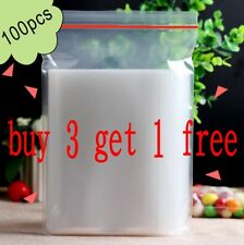 Resealable Zip Lock Bags Clear Plastic 2Mil ziplock Reclosable Bag 100pcs