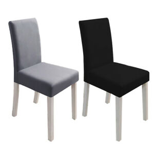 Waterproof Long Back Chair Slipcover Washable Large Stretch Dinning Seat Cover E
