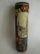 Vintage HAND-CARVED, HAND-PAINTED Bavarian CIGARETTE HOLDER
