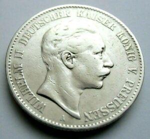 (676)GERMAN EMPIRE   2 MARK COIN 1900 A -  0.900 SILVER  -  KING WILLHELM II