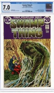 SWAMP THING No. 1 Signed By Len Wein Certified 7.0 In Very Fine Condition