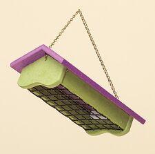 Suet Bird Feeder - 2 Cake Upside-Down Amish Handmade Recycled Poly - Purple/Lime