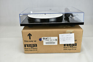Planar 1 Turntable by Rega. Gloss Black Record Deck. Open Box, UK Dealer