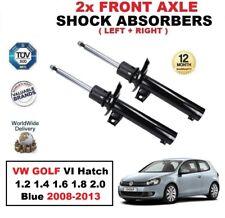 2x ant. AMMORTIZZATORI per VW GOLF VI Hatchback 1.2 1.4 1.6 1.8 2.0 BLU