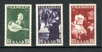 Germany - Saar 1951 National Relief Fund values to 18f + 7f MNH