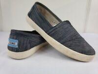 TOMS Womens Black Slip On Casual Shoes Sz 7.5 EUC