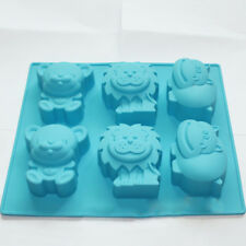 Jungle Zoo Animal Chocolate Cake Gelatin Soap Silicone Mold Making Kids Favor