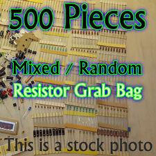 500 Pcs - Resistors - Electrical Component Grab Bag Assortment DIY or Arduino