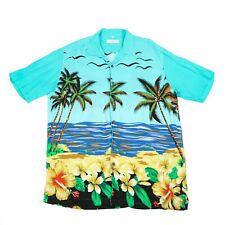 Vintage C&A Camisa Hawaiana | Hombres L | Botón Retro Aloha patrón Canda Gráfico