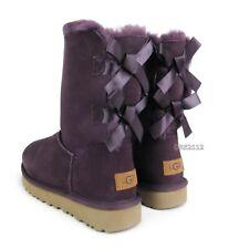 UGG Bailey Bow II Port Suede Fur Boots Womens Size 9 ~NIB~