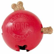 Kong Biscuit Balls Interactive Dog Toy Hollow Tough Rubber Ball Fill With Treats