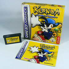 Klonoa Empire of dreams para Nintendo GBA GameBoy Advance módulo + instrucciones + embalaje original