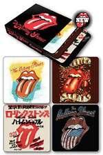 Rolling Stones - 4 Coasters Set NEW * tongue lips band artwork coaster
