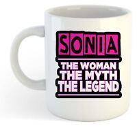 Sonia - The Woman , Myth , Leyenda Taza - Nombre Personalizado de Moda Regalo