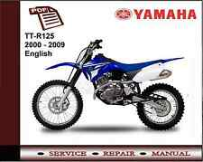Yamaha TT-R125 TTR125 2000 - 2009 Service Repair Workshop Manual