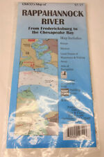 GMCO Rappahannock River Map from Fredericksburg to the Chesapeake Bay 35 x 22