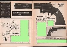 1981 COLT Diamondback .22LR Revolver Evaluation Article Exploded View Parts List
