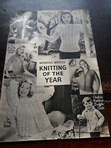 """Knitting Patterns Knitting of the Year """"Woman's Weekly"""" Booklet c1950's Vintage"""